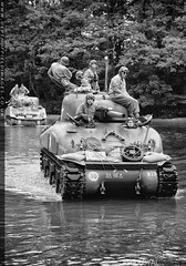 Shermans at the ford (zoomerphil) Tags: water soldier army war crossing tank military wwii attack ww2 strike m3 rhine normandy dday sherman