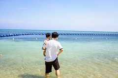 ga ~ (Steve Wan^_______________,^) Tags: travel love beach japan hotel monterey tiger daughter journey join wife fujifilm okinawa  x100t