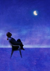 Stars (Modern Version) - Get Pushed!! Round 20 (Tinina67) Tags: blue moon photoshop stars chair textures elements tina layers pushed challenge parrish selfie maxfield totw pattijo round20 getpushed tinina67