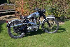 BSA B32 350cc FOR SALE (Carrie Moloney!) Tags: blue classic vintage silver forsale motors motorbike motorcycle 32 trials bsa competitions trialsbike 350cc b32 birminghamsmallarms