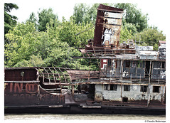The final harbor / El puerto final (Claudio.Ar) Tags: old color abandoned topf25 water argentina boat agua buenosaires barco sony ruin rusty tigre dsc decadence urbex h9 flickrdiamond claudioar claudiomufarrege