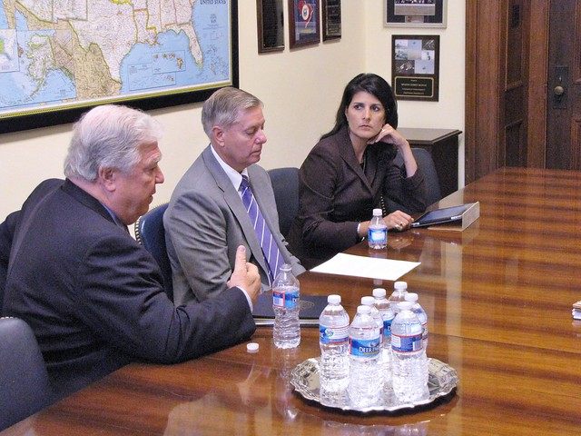 Meeting with Governors Haley and Barbour