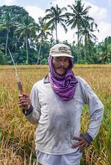 Balinese Farmer (daniel.frauchiger) Tags: portrait bali indonesia rice harvest panasonic palmtrees farmer balinese gf1