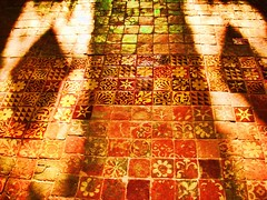 Winchester cathedral tile (Chilli Winter) Tags: light art tiles winchestercathedral eyecandyart