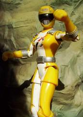 Yellow Overdrive Ranger (haymrk) Tags: girl yellow female toy ranger power action veronica figure operation robinson ronny 2007 bandai overdrive