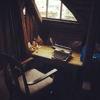 Writers desk with a view in our attic