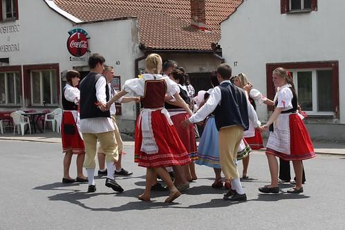 Traditional Máje celebration in Čečelice