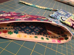 Wristlet 1 - View Inside (Witty Girl) Tags: june sewing crafts inside projects 2012 wristlet
