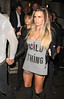 Katie Price heads to Aura Nightclub with friends London, England
