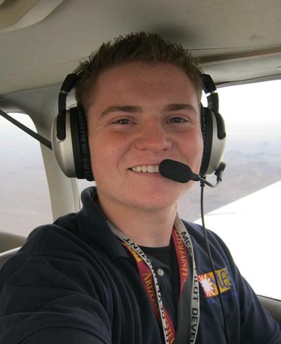 Jacob Nelson in the skies over Phoenix AZ