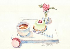 aquarelle pour maman (Paris Breakfast) Tags: