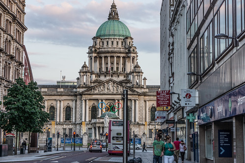 Donegall Place Belfast (Looking Towards Belfast City Hall)