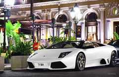 Monte-Carlo Night Life (Willem Rodenburg) Tags: cruise party summer black cars by night matt square outside 50mm cool nikon top cruising down ferrari casino spyder montecarlo monaco mat lp parked nightlife mm 50 lamborghini supercar matte willem combo roadster murcielago v12 640 599 d90 murchielago lp640 cs5 hypercar rodenburg