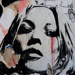 larmes de papier 1/3- Beaubourg (peu prsente...ailleurs !) Tags: portrait paris femme stickers mur sujet groupe visage beaubourg larmes participation artsdelarue acomme sujetimpos
