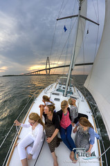 Sailing Charleston Sunset (Dustin K. Ryan) Tags: sunset canon sailing fate saiboat beneteau49 rokinon8mm
