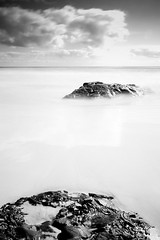 White & Two (Matthew Post) Tags: longexposure blackandwhite bw mono rocks post matthew australia queensland rainbowbeach cooloola gympie doubleislandpoint matthewpost