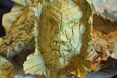 Astral Warrior (blue paper) Tags: art face paper origami mask joel cooper fold tessellation folding