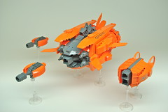 Sthaughot Gunship (1) (Dunechaser) Tags: lego space alien gunship