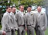 Glenn Whelan and groomsmen The wedding of Irish footballer Glenn Whelan to Karen Byrne held at St. Philomena's Church in Palmerstown Dublin, Ireland