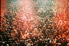 the crowd below (susan xie) Tags: film 35mm lights concert minolta audience crowd markfoster x700 fosterthepeople