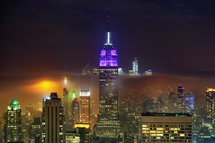 New York City on May 15, 2012 (mudpig) Tags: nyc newyorkcity longexposure cloud mist newyork reflection rain fog skyline night geotagged cityscape worldtradecenter gehry esb empirestatebuilding gothamist frankgehry verrazanobridge hdr topoftherock observationdeck gracebuilding freedomtower mudpig stevekelley beekmantower 8sprucestreet 8spruce oneworldtrade stevenkelley newyorkbyfrankgehry