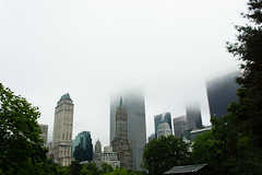 Misty Manhattan skyline, from Central Park (Dan Nguyen @ New York City) Tags: nyc newyorkcity fog centralpark manhattan midtown gothamist