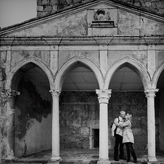 A long marriage is two people trying to dance a duet and two solos at the same time. (www.juliadavilalampe.com) Tags: espaa love spain kiss couple pareja amor romance getty vacaciones liebe gettyimages mrida
