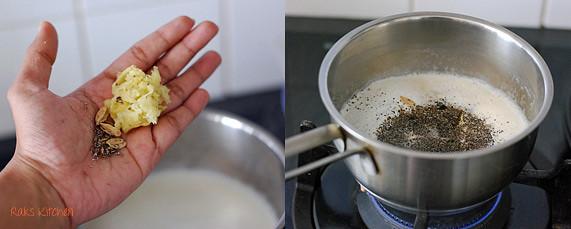how to make ginger cardamom tea step 1