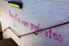 None of us ever graduates (chrisjohnbeckett) Tags: life pink red urban graffiti student education steps canterbury degree universitycity stdunstans canonef24105mmf4lisusm chrisbeckett