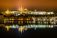 Prague Castle and its reflection