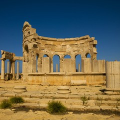 Market place, Leptis Magna, Libya (Eric Lafforgue) Tags: africa old color colour history archaeology vertical stone architecture square outdoors photography ancient day arch roman northafrica bluesky nobody nopeople unescoworldheritagesite classical libya ancientcivilization thepast leptismagna romanruins libia libye traveldestinations colorimage famousplace neapolis libyen buildingexterior lepcismagna nationallandmark colorpicture placeofinterest oldruin lbia internationallandmark italiancolony libi libiya khoms tripolitania romanperiod  ribia liviya builtstructure libija colourpicture  lebdah      lbija  lby  libja lbya liiba livi  a0012479