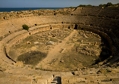 Amphitheater, Leptis Magna, Libya (Eric Lafforgue) Tags: africa old color colour history archaeology horizontal stone architecture outdoors photography ancient day roman northafrica nobody nopeople unescoworldheritagesite classical amphitheater libya ancientcivilization thepast gladiator leptismagna romanruins libia libye traveldestinations colorimage famousplace neapolis libyen buildingexterior lepcismagna nationallandmark colorpicture placeofinterest oldruin líbia internationallandmark italiancolony libië libiya khoms tripolitania romanperiod リビア ribia liviya builtstructure libija colourpicture либия lebdah לוב 리비아 ливия լիբիա ลิเบีย lībija либија lìbǐyà 利比亞利比亚 libja líbya liibüa livýi λιβύη a0012531