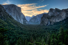 Yosemite Valley Sunset (nailbender) Tags: california sunset usa yosemitefalls landscape falls yosemite hdr yosemitevalley tunnelview nailbender onlythebestofnature