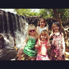 Waterfall (ckerber@sbcglobal.net) Tags: summer wisconsin kids sisters children waterfall wate