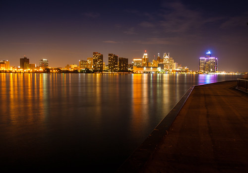 """Detroit Night Skyline • <a style=""""font-size:0.8em;"""" href=""""http://www.flickr.com/photos/76866446@N07/7352278866/"""" target=""""_blank"""">View on Flickr</a>"""