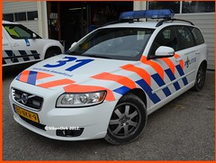 Dutch Police Volvo AA. (NikonDirk) Tags: v50 volvo politie police nikondirk dutch cop cops amsterdam amstelland hulpverlening holland netherlands trafficpolice traffic verkeers verkeerspolitie foto 80nkr9 verkeer commercial vehicle inspection safety