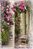 A Place to Stop and Smell the Roses (Julie Frances Photography) Tags: pink roses beautiful gardens bench columns soe pergola topazlabs nikond300 artofimages mygearandme theyaddo ringexcellence dblringexcellence tplringexcellence ononephotosuite thegoldenachievement