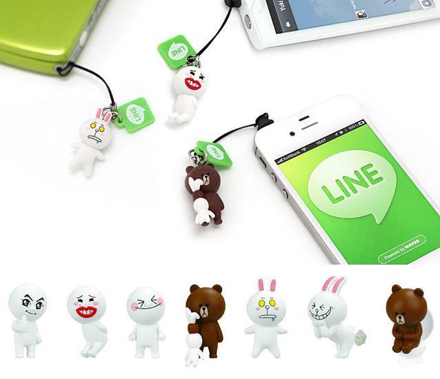 LINE預計推出手機防塵塞吊飾