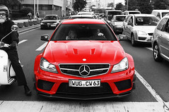 First one, perfect one! (Frankenspotter Photography) Tags: red bw white black rot sc canon germany deutschland eos mercedes bs d c extr