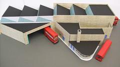 AV Hounslow in 1/76 scale (kingsway john) Tags: kingsway models card kit 176 scale bus garage hounslow londontransportmodel model diorama oo gauge miniature