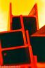 RedScaleIBeam (bigbuddy1988) Tags: new city nyc red usa newyork color colour art film yellow metal analog america dark outside photography weird us lomo lomography nikon iso400 400 f5 400asa asa400 unnatural nikonf5 redscale