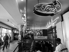 Inside Pikes Place (Terrence Pierce Photography) Tags: ocean life seattle park camera city light sea summer people blackandwhite bw plants sun sunlight white fish plant black color building sexy love nature water coffee beauty smile weather wheel sign june loving skyline wow landscape fun person photography town photo washington back cool nice scary nikon colorful warm downtown pretty place natural state bright body good sleep walk awesome creative sunny lips creepy pole story sleepy needle wired create ok month picks sapce portrit