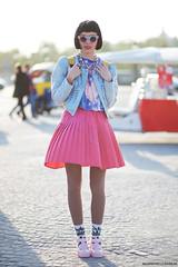 Solne Place de la Concorde, street style Paris (Marie-Paola Bertrand-Hillion) Tags: pink light paris france fashion french spring outfit style sunny skirt mode printemps parisian placedelaconcorde itgirl streetfashion parisienne streetstyle ootd solenelescouet