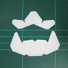 วิธีทำโมเดลกระดาษตุ้กตาสัตว์เลี้ยง หยดทองจากเกมส์ คุกกี้รัน (LINE Cookie Run Gold Drop Papercraft Model - クッキーラン  「黄金ドロップ」 ペーパークラフト) 004