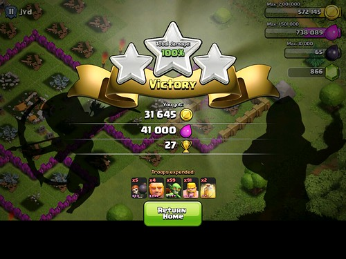 Clash of Clans Level Completed: screenshots, UI