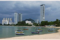 Rural VS Urban (Micartttt) Tags: city sea beach island georgetown malaysia penang fishermanvillage tanjungbungah micarttttworldphotographyawards micartttt