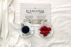 Good morning (Lidia Martn) Tags: caf breakfast newspaper desayuno diario fresas buenosdias elnacional