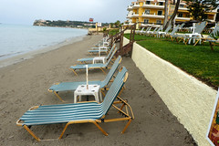 Beach With Sunbeds (RobW_) Tags: beach wednesday may greece zakynthos freddiesbar tsilivi 2016 sunbeds 11may2016