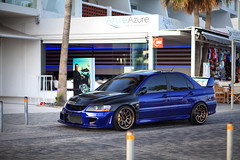EVO VIII (DT PHOTOGRAPHY (CY)) Tags: blue car japan photography photoshoot harbour wide cyprus 8 evolution turbo carbon viii lancer mitsubishi jdm sunroof evo stance pafos ct9a 4g63 voltex japanracing dtphotographycy