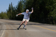 Longboarding w/ flash (ParkerTownes) Tags: sports canon action flash speedlight longboarding powerslide
